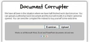 Documento Corrupto