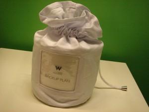 Foto de una bolsa de tela haciendo referencia a un backup