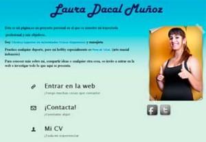 Imagen previa de la web de laura dacal