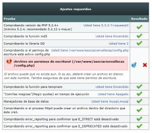 Crear config.php
