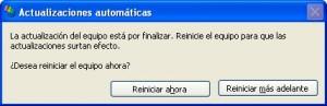 Reinicio XP