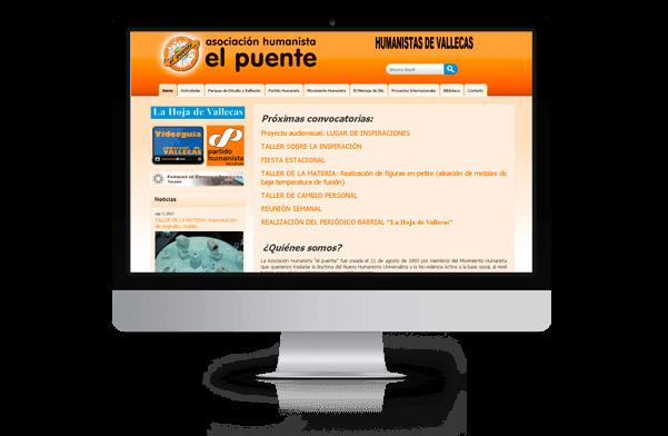 Página web de humanistas de Vallecas