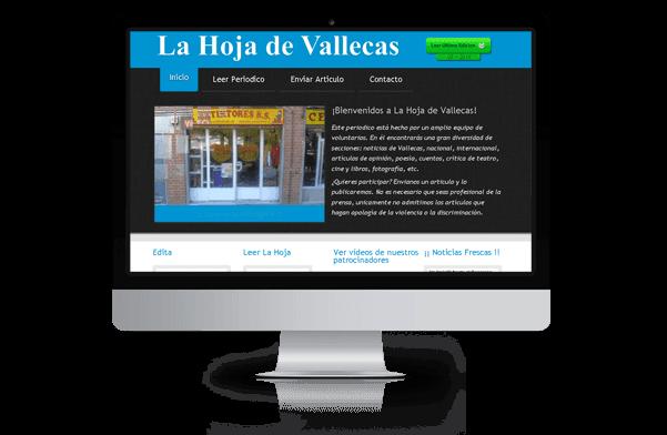 Página web de la hoja de Vallecas